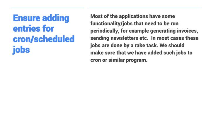 Ensure adding entries for cron/scheduled jobs