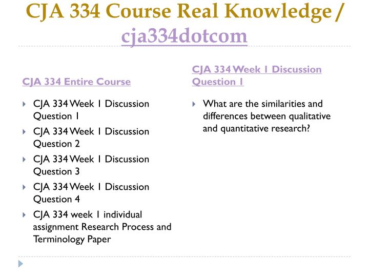 Cja 334 course real knowledge cja334dotcom1
