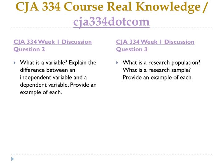 Cja 334 course real knowledge cja334dotcom2