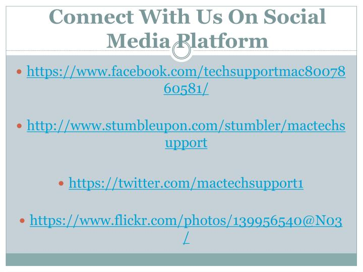 Connect With Us On Social Media Platform