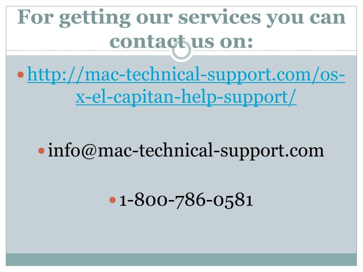 For getting our services you can contact us on: