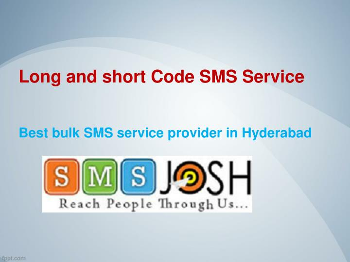 Long and short code sms service