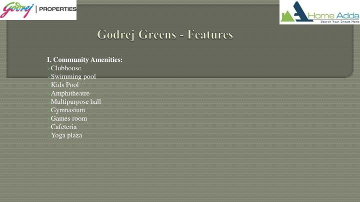 Godrej Greens - Features