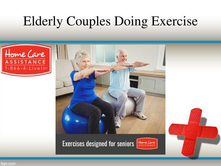 Elderly Couples Doing Exercise