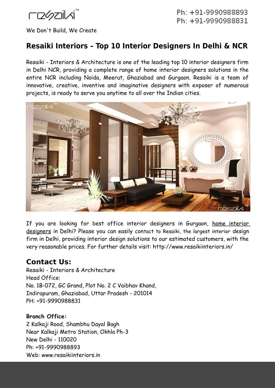 Ppt Home Interior Designers In Delhi Ncr Resaiki Powerpoint Presentation Id 7434782