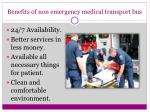 benefits of non emergency medical transport bus