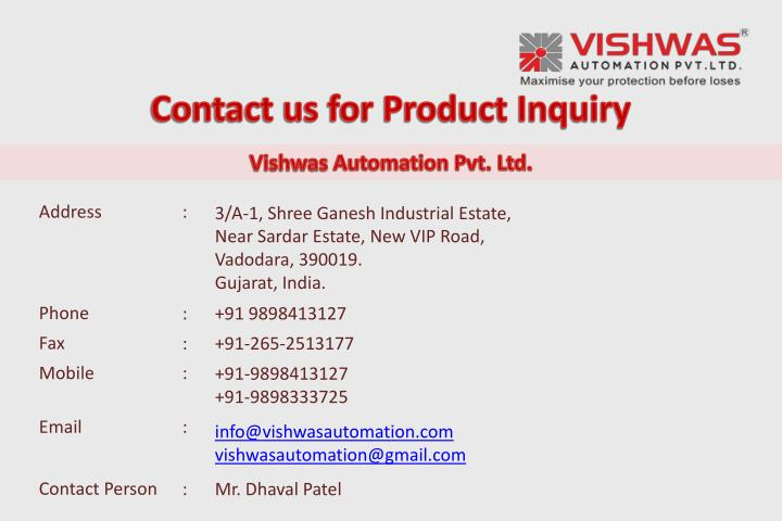 Contact us for Product Inquiry