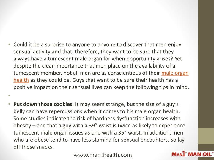 Could it be a surprise to anyone to anyone to discover that men enjoy sensual activity and that, the...