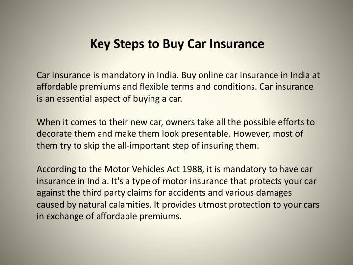 Key Steps to Buy Car Insurance