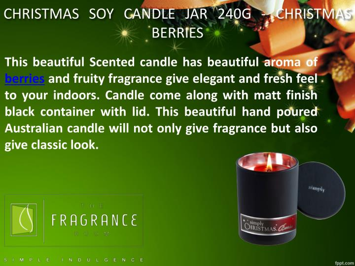 CHRISTMAS SOY CANDLE JAR 240G - CHRISTMAS BERRIES