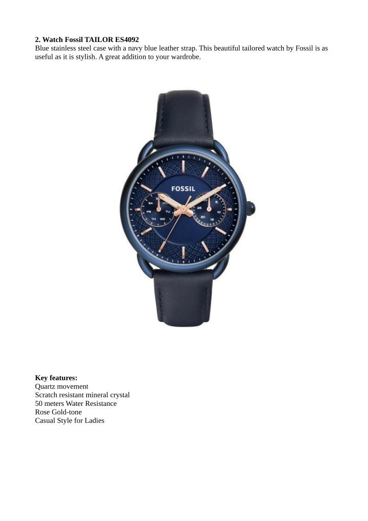 2. Watch Fossil TAILOR ES4092