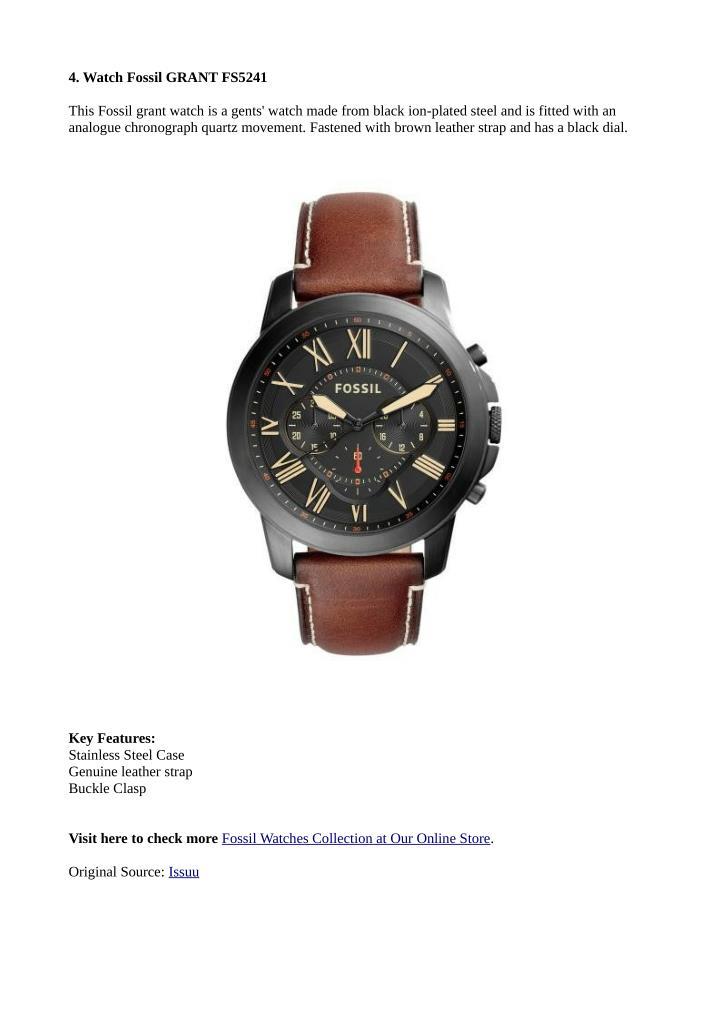 4. Watch Fossil GRANT FS5241