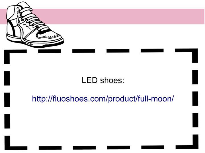 LED shoes: