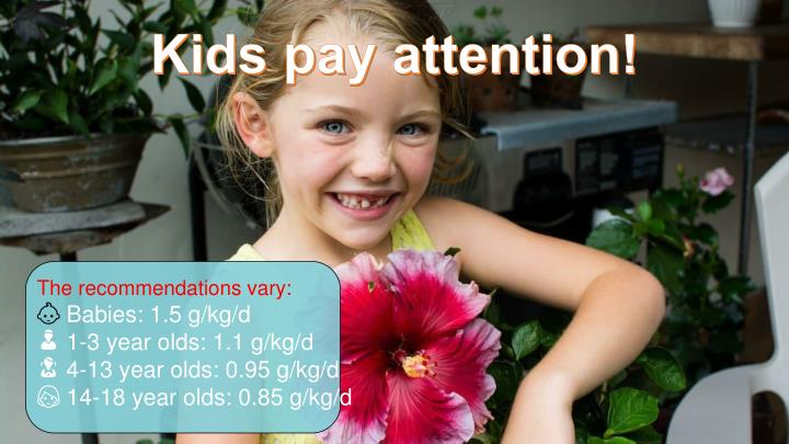 Kids pay attention!