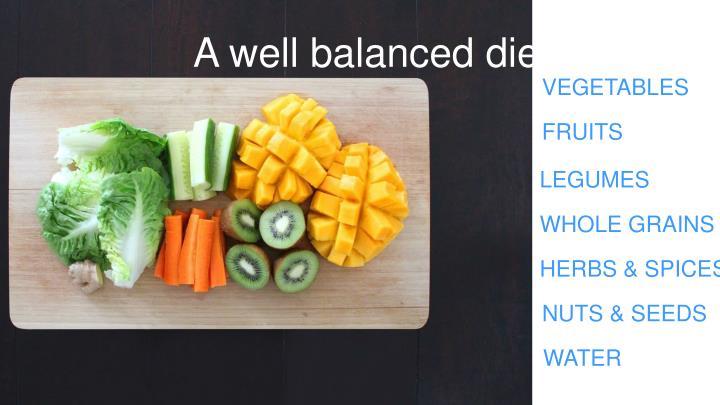 A well balanced diet