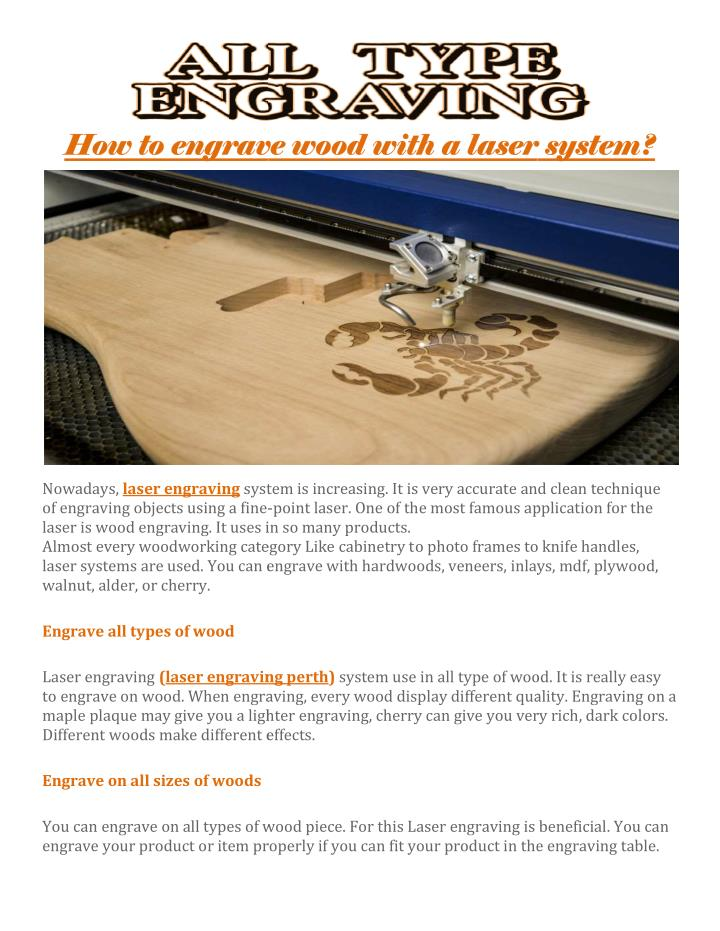 How to engrave wood with a laser