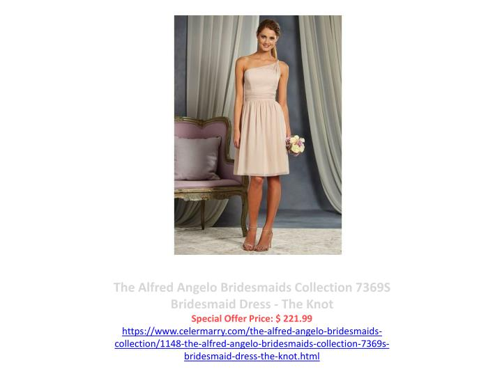 The Alfred Angelo Bridesmaids Collection 7369S Bridesmaid Dress - The Knot