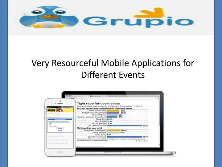 very resourceful mobile applications for different events n.