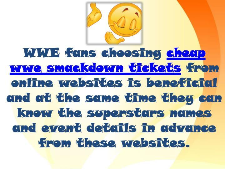 WWE fans choosing