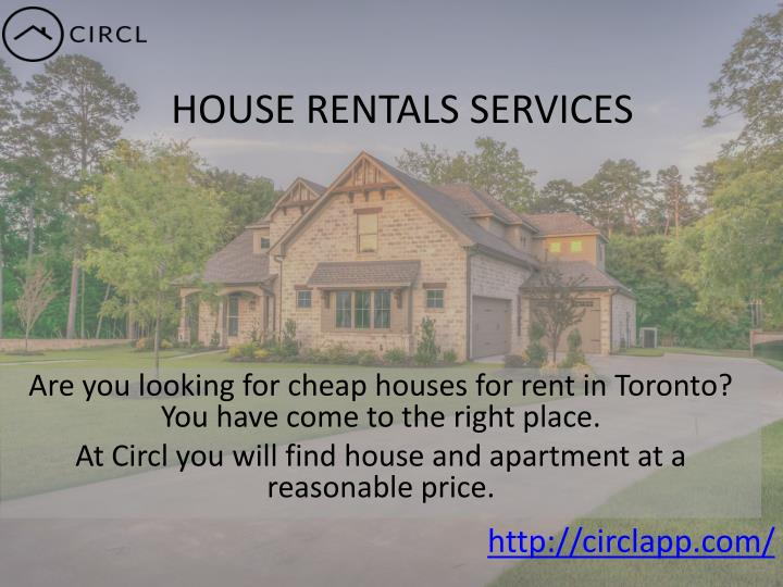 HOUSE RENTALS SERVICES