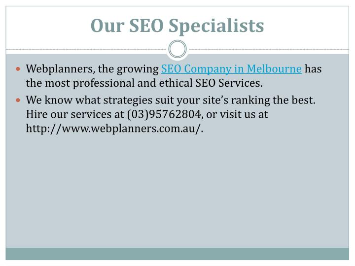 Our SEO Specialists