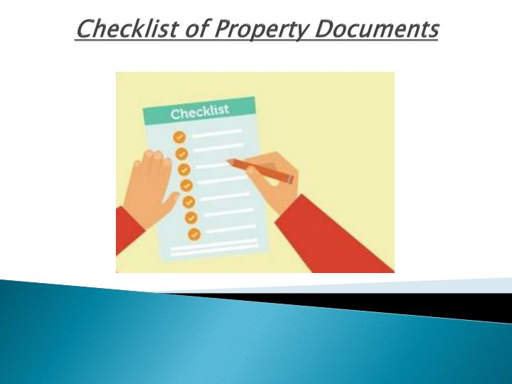 checklist of property documents n.