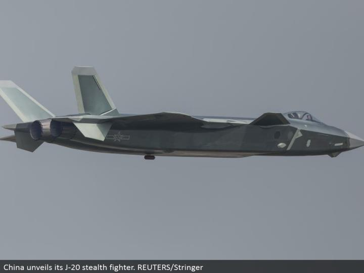 China uncovers its J-20 stealth warrior. REUTERS/Stringer