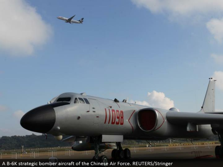 A B-6K key plane air ship of the Chinese Air Force. REUTERS/Stringer
