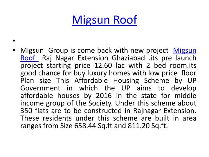 Migsun roof1