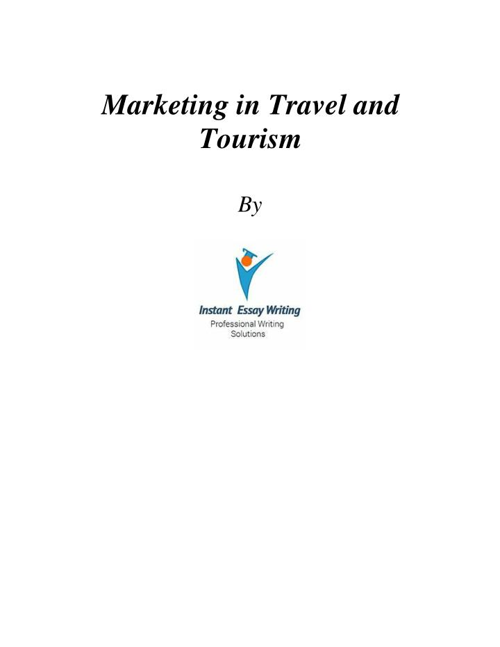 Marketing in Travel and