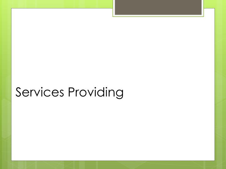 Services providing