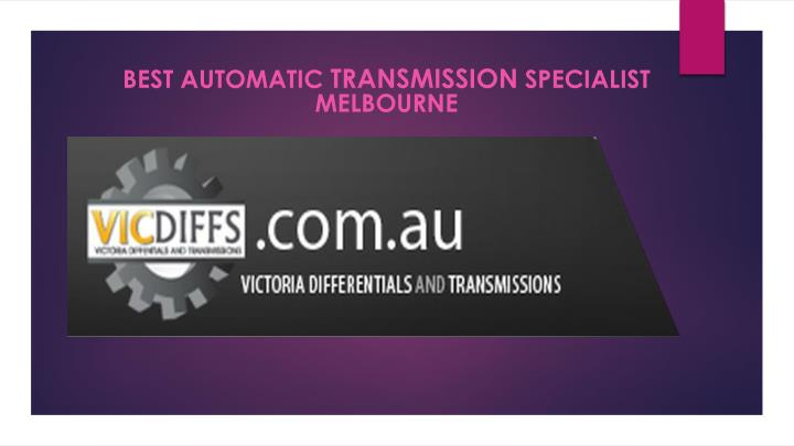 best automatic transmission specialist melbourne n.