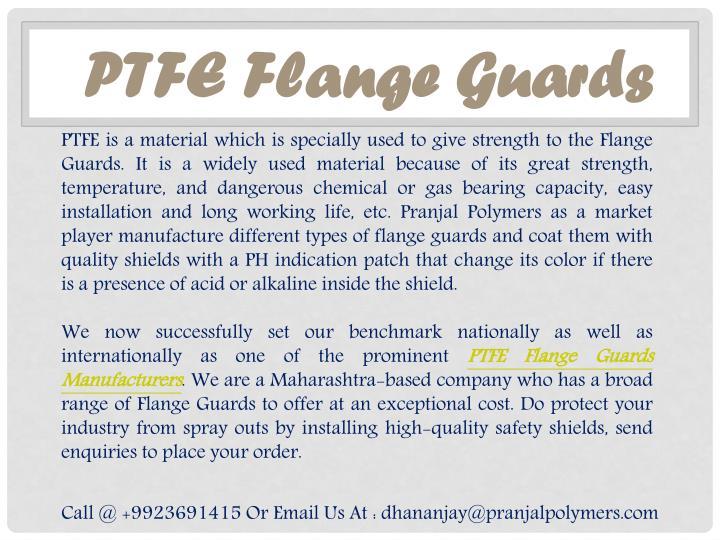 PTFE Flange Guards