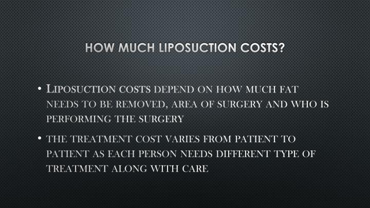 How much Liposuction costs?