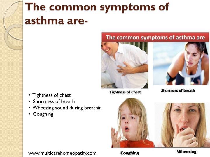 The common symptoms of