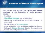 causes of brain aneurysm