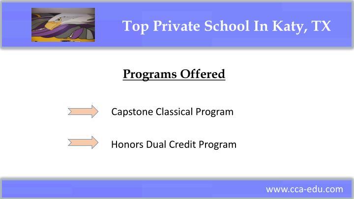 Top Private School In Katy, TX