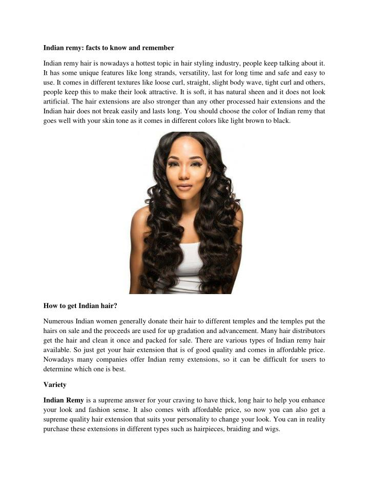 Indian remy: facts to know and remember