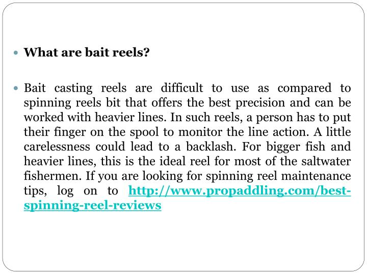 What are bait reels?
