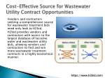 cost effective source for wastewater utility contract opportunities