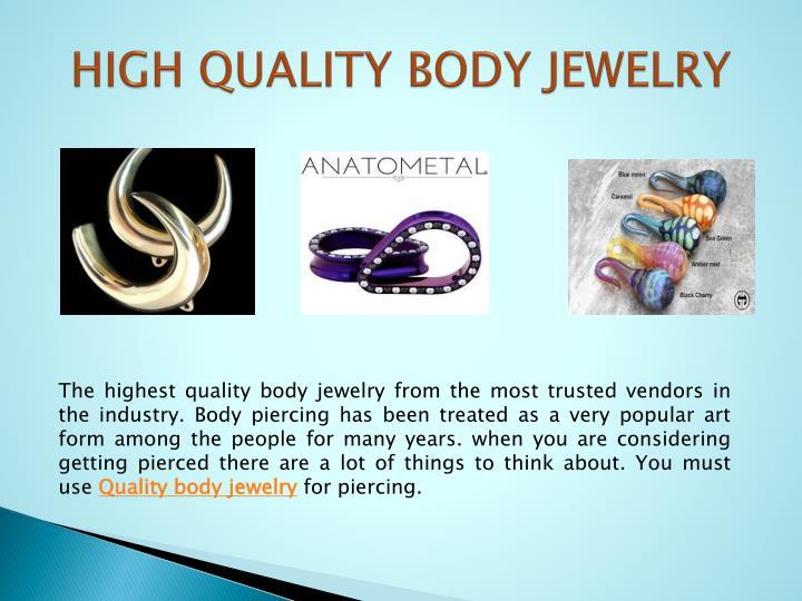 High quality body jewelry