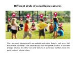 different kinds of surveillance cameras