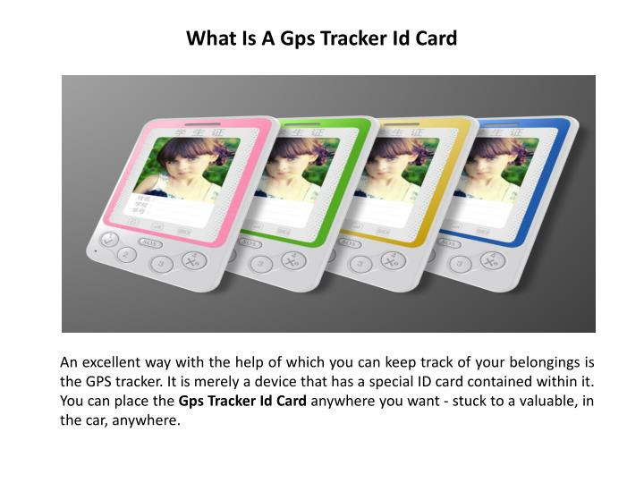 what is a gps tracker id card
