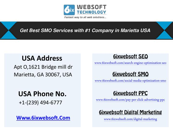 Get Best SMO Services with #1 Company in Marietta USA