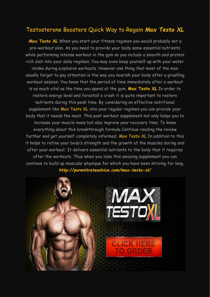 Testosterone Boosters Quick Way to Regain