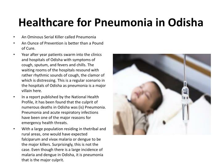 Healthcare for pneumonia in odisha