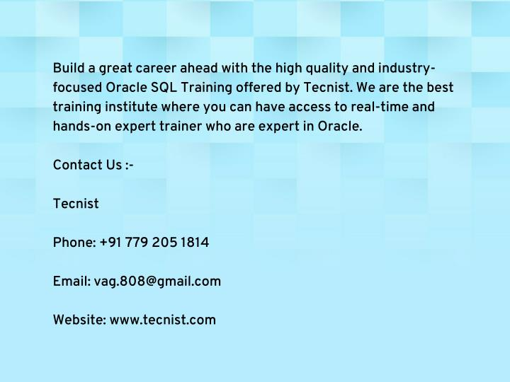 Build a great career ahead with the high quality and industry-