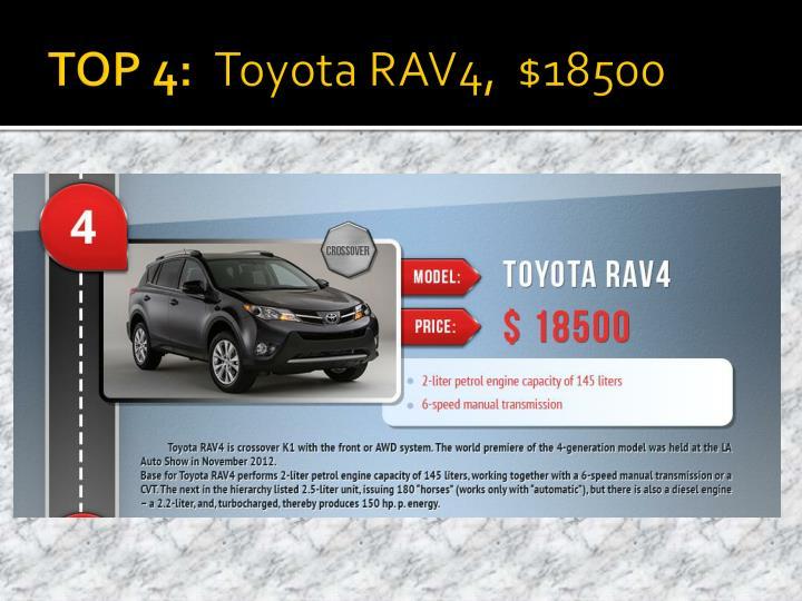 Top 4 toyota rav4 18500
