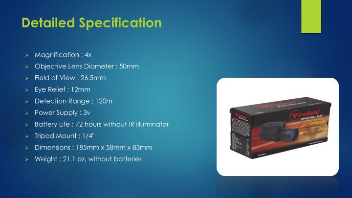 Detailed Specification