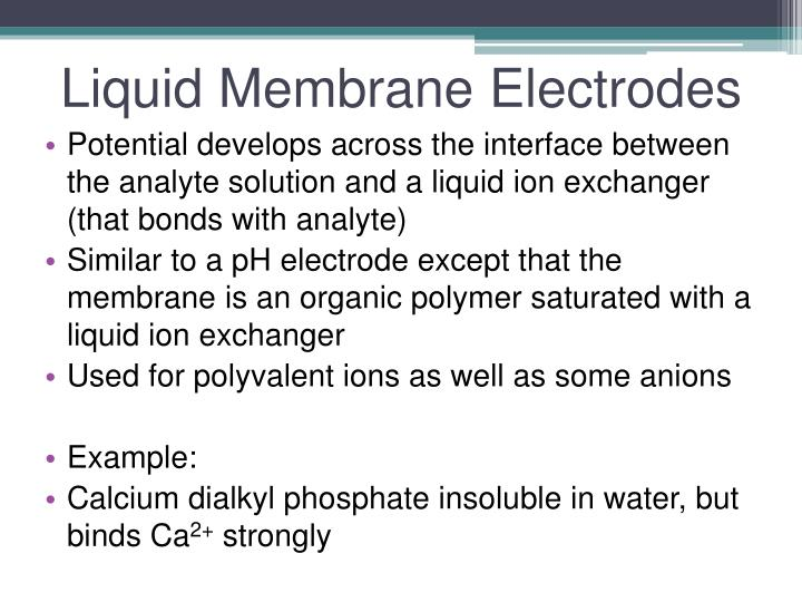 Liquid Membrane Electrodes